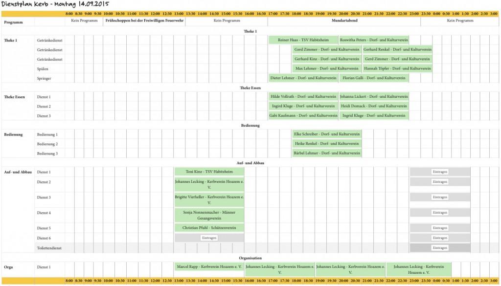 dienstplan-montag-140915